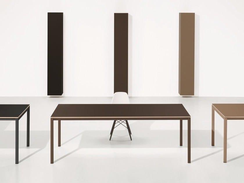 Rectangular linoleum office desk MINIMUM | Linoleum writing desk by Ultom