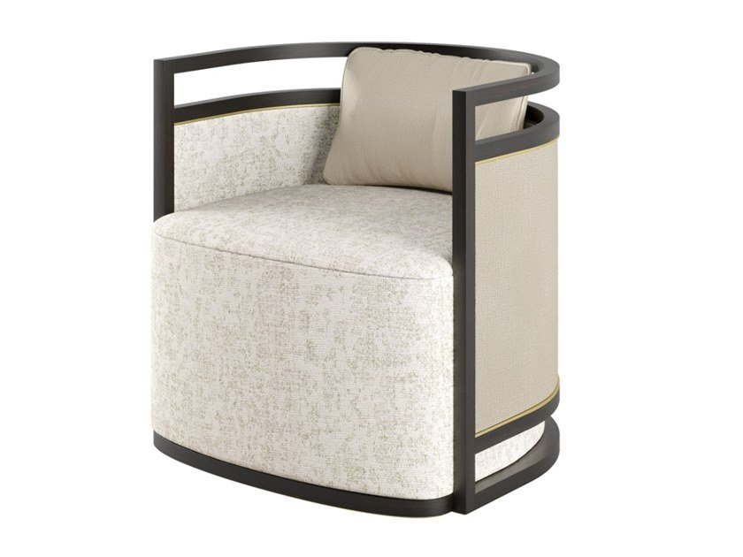 Fabric armchair with armrests MINSK by FRATO