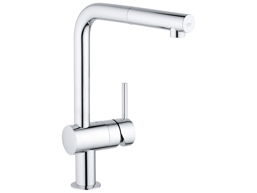 1 hole kitchen mixer tap with swivel spout MINTA L | Kitchen mixer tap with aerator by Grohe