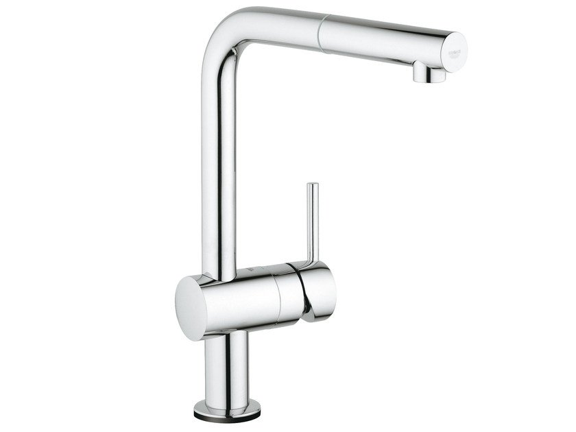 Electronic kitchen mixer tap with pull out spray MINTA TOUCH | Countertop kitchen mixer tap by Grohe