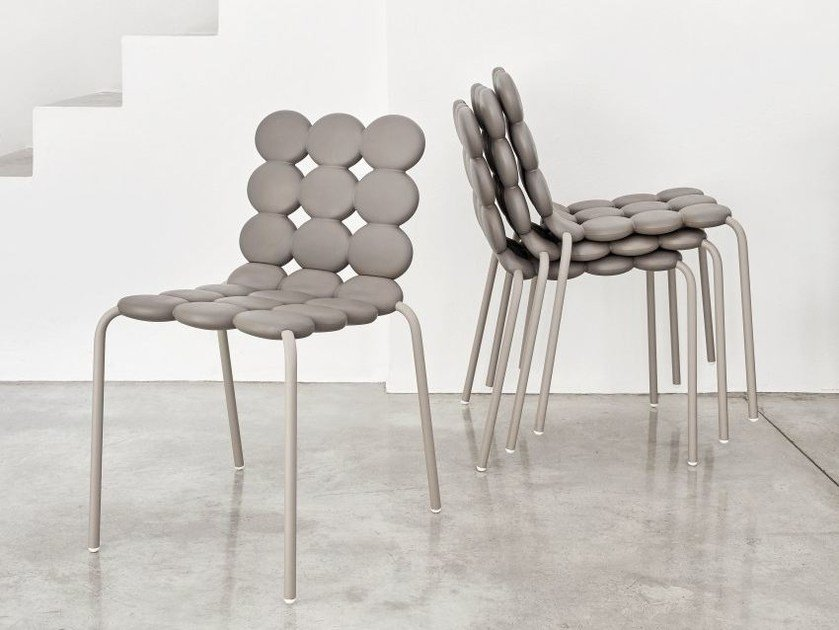 Stackable polyurethane chair MINTS by Geelli by C.S.