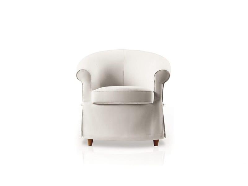 Fabric armchair with armrests MINÙ by Felis