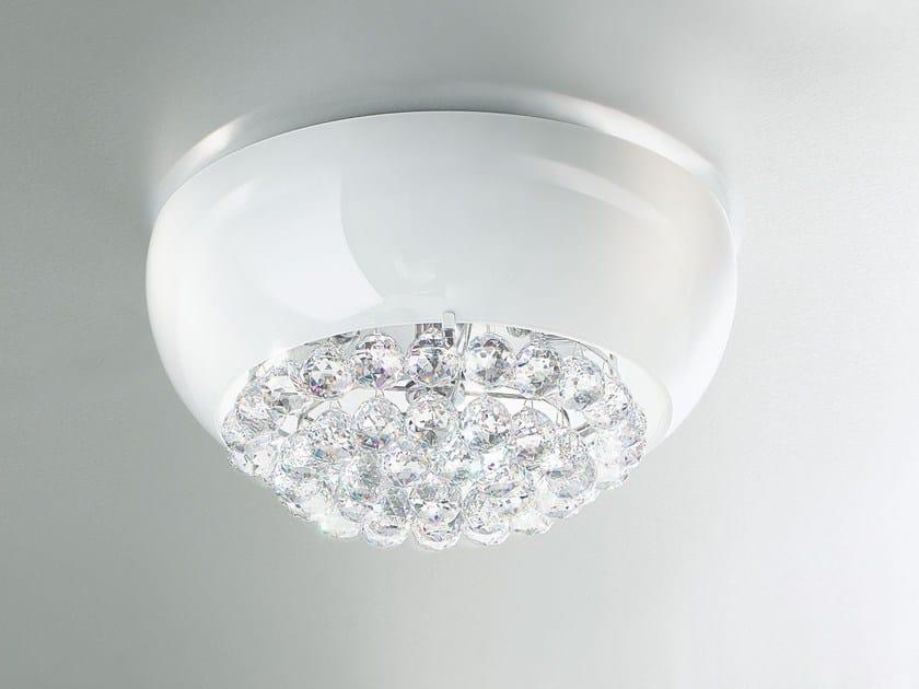 Plafoniera a luce diretta in vetro laminato MIR | Plafoniera by Masiero
