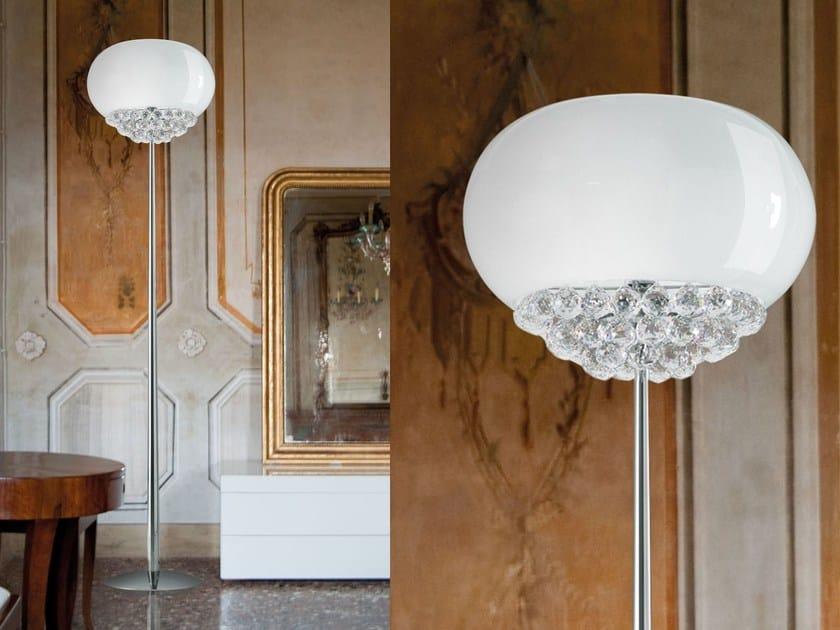 Lampada da terra a luce diretta in vetro laminato MIR | Lampada da terra by Masiero