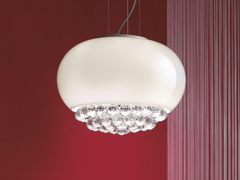 Direct light laminated glass pendant lamp MIR   Pendant lamp by Masiero