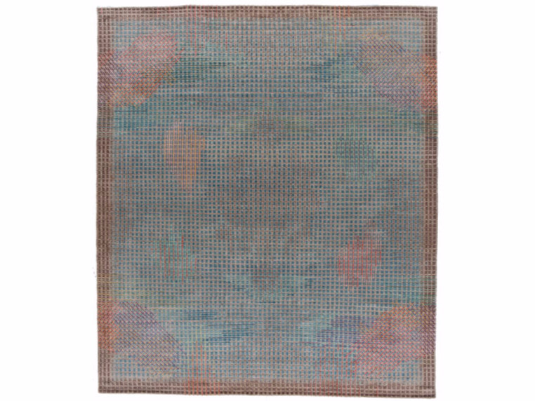 Handmade rectangular rug MIRAGE BLUE by Golran