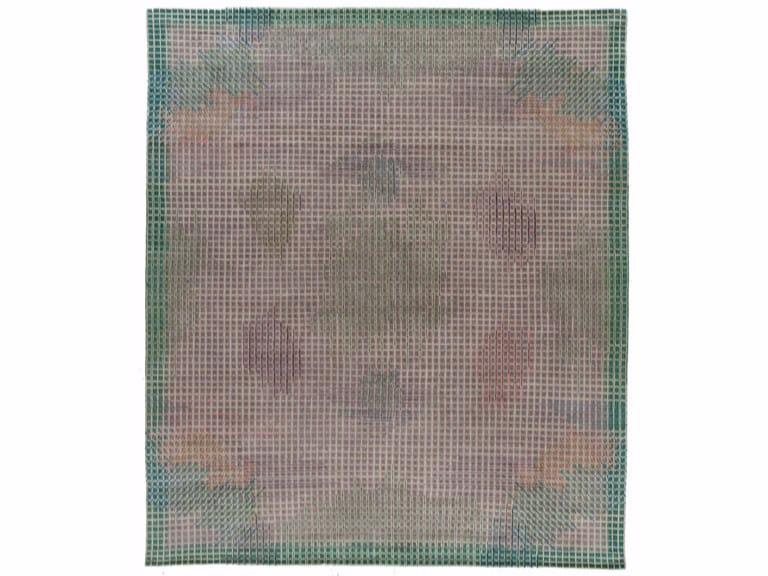 Tappeto fatto a mano rettangolare MIRAGE GREEN by Golran