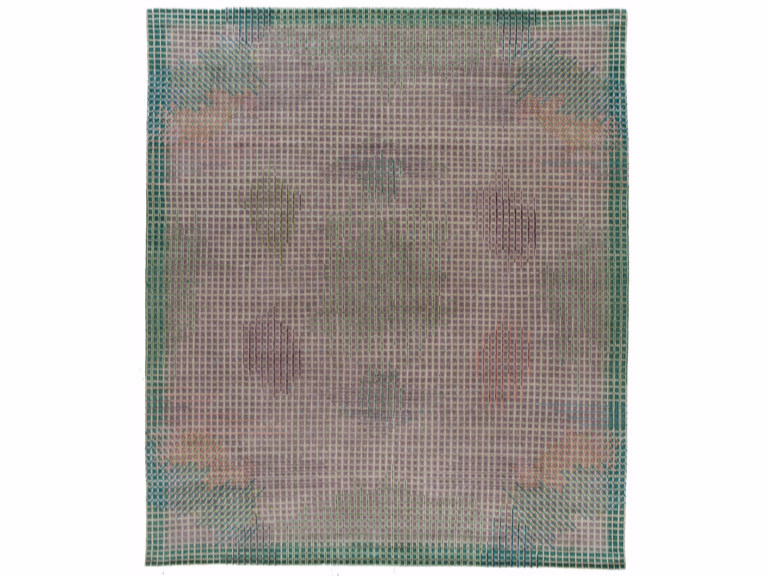 Handmade rectangular rug MIRAGE GREEN by Golran