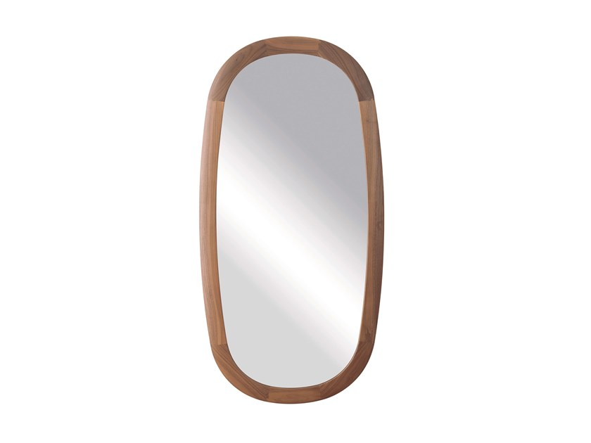 Oval wall-mounted framed mirror MIRAGE | Oval mirror by Pacini & Cappellini