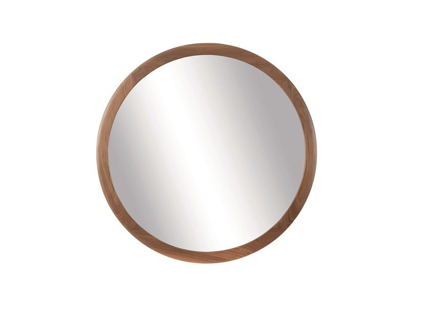 Round wall-mounted framed mirror MIRAGE | Round mirror by Pacini & Cappellini