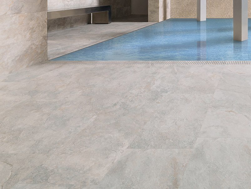 Wall/floor tiles with stone effect MIRAGE SILVER by Venis