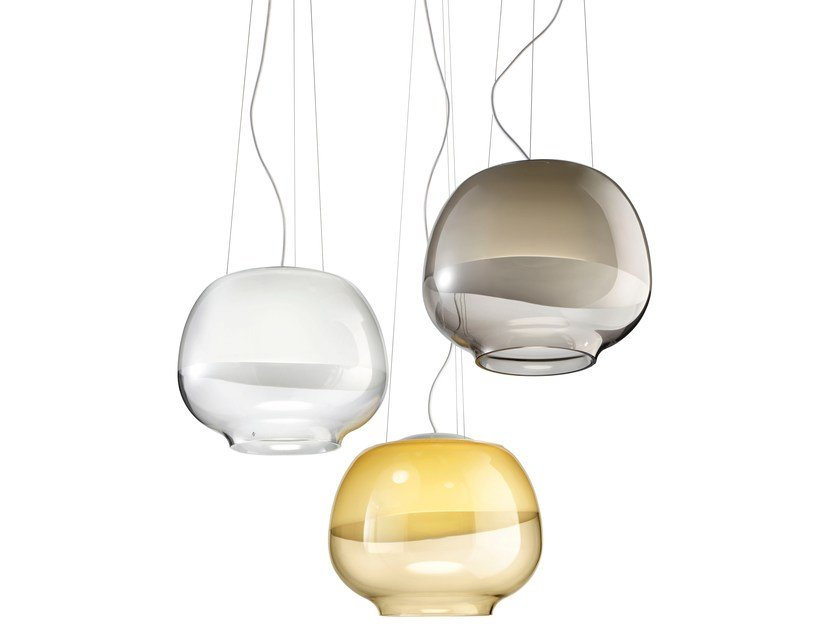 Blown glass pendant lamp MIRAGE SP by Vetreria Vistosi