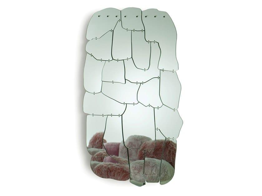 Wall-mounted methacrylate mirror MIRAGGIO by edra
