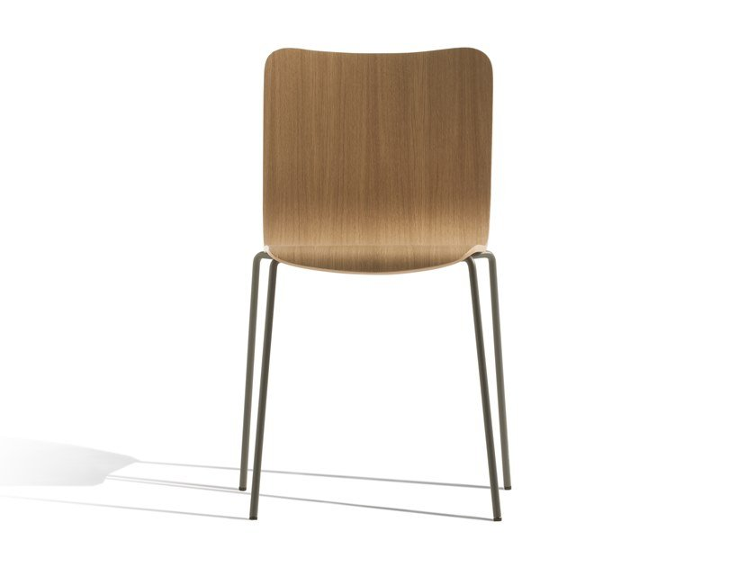 Stackable beech chair MIRÒ 410R by Capdell