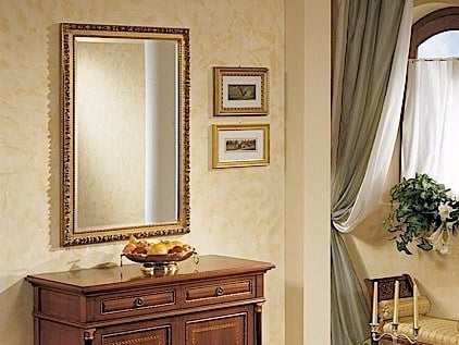 Rectangular wall-mounted framed mirror GALILEO | Mirror by Arvestyle