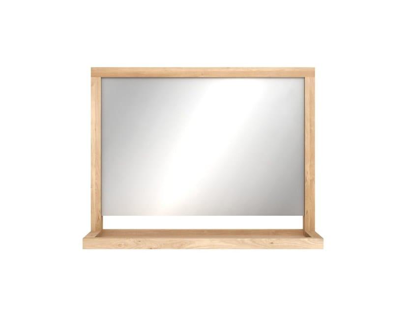 Wall-mounted framed bathroom mirror OAK CUADRO | Mirror by Ethnicraft