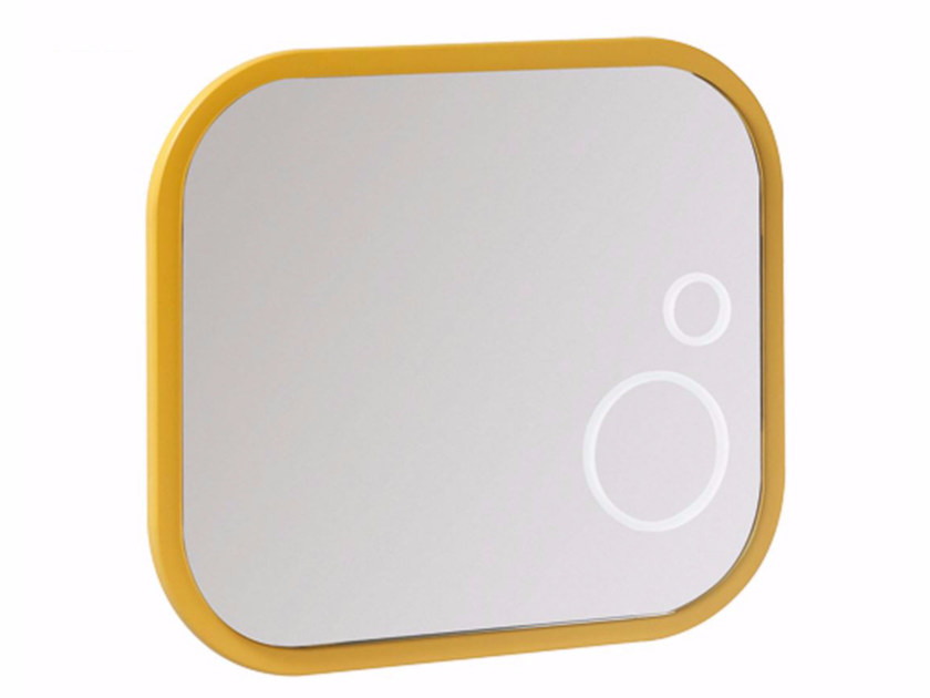 Rectangular wall-mounted framed mirror MINIMÈ | Mirror for children by Saniline