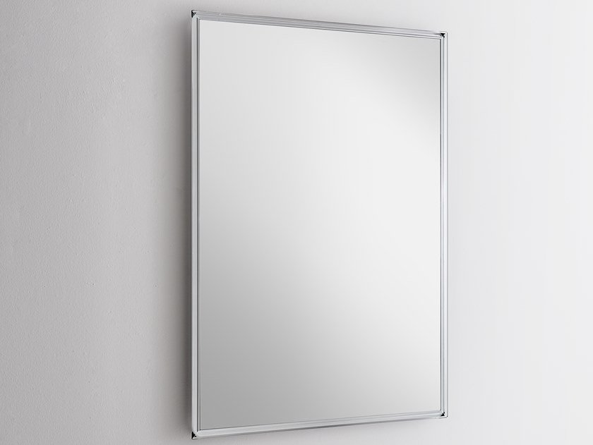 Wall-mounted framed mirror STARLIGHT | Rectangular mirror by Glas Italia