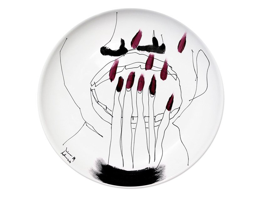 Ceramic dinner plate MIRROR I by Kiasmo