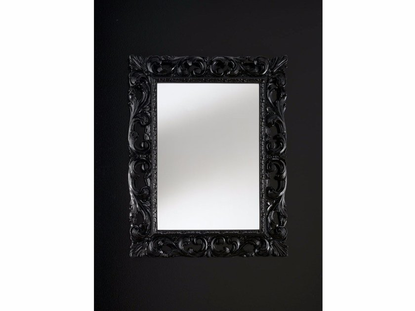 Rectangular wall-mounted framed mirror BAROQUE | Mirror by IDL EXPORT