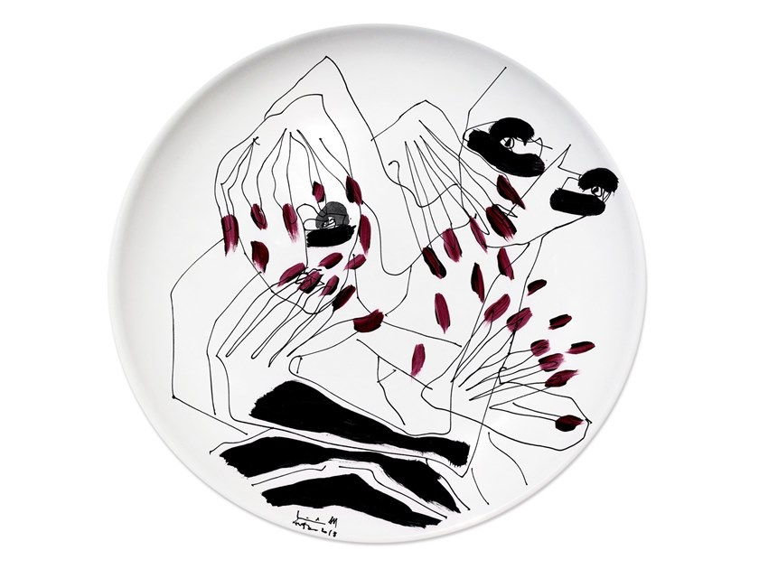 Ceramic dinner plate MIRROR III by Kiasmo