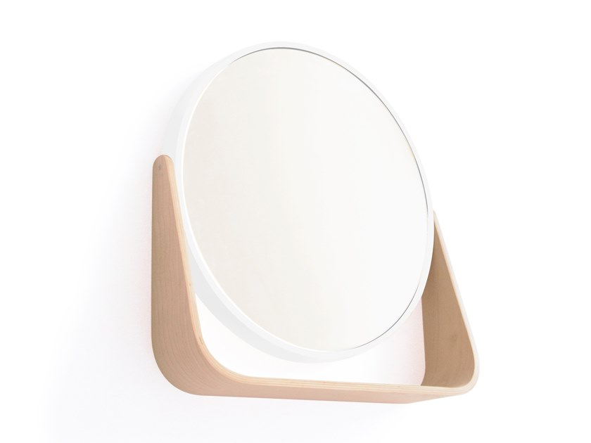 Round mirror with shelf FERMA | Mirror by UBIKUBI