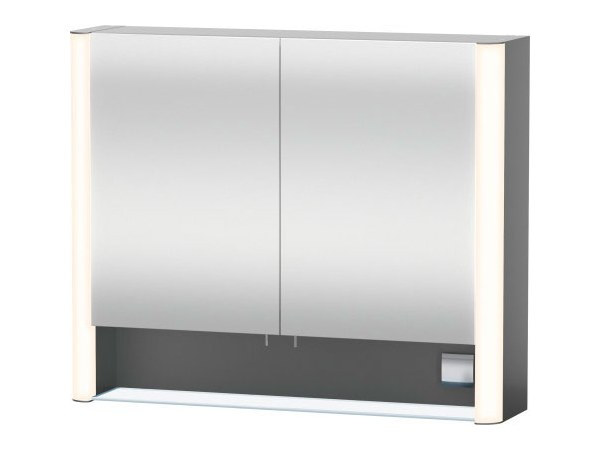 Wall-mounted mirror with cabinet with integrated lighting Mirror with cabinet by Duravit