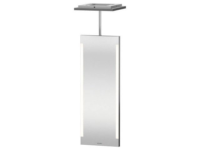 Swivel bathroom mirror with integrated lighting Mirror with integrated lighting by Duravit