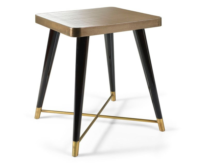Square mirrored glass side table PEGGY | Mirrored glass coffee table by Sicis