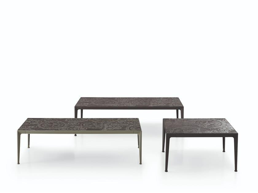 Tavolino da giardino in gres porcellanato MIRTO OUTDOOR | Tavolino da giardino by B&B Italia Outdoor
