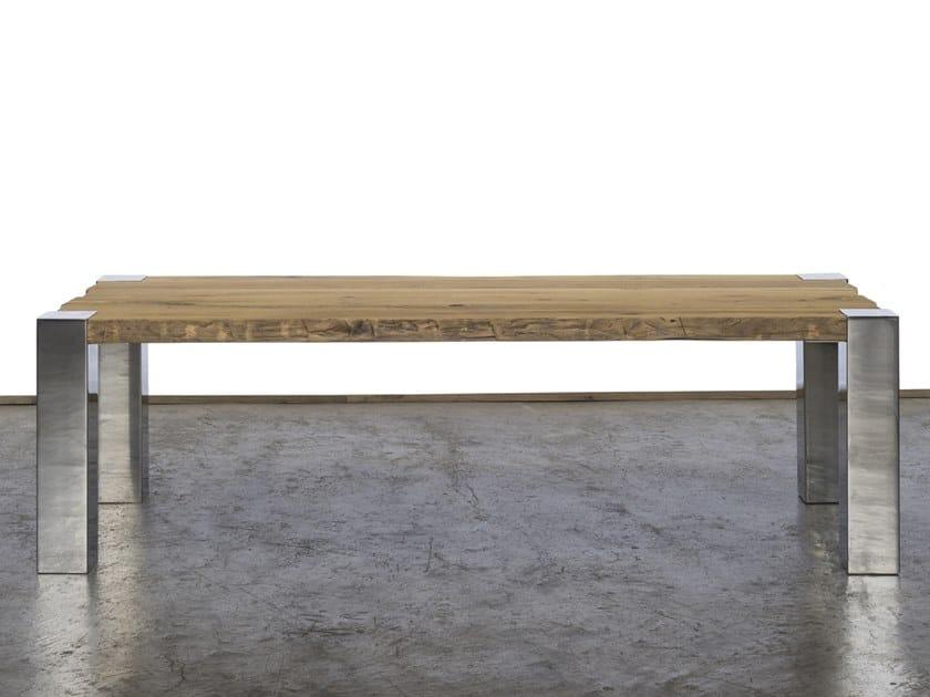 Rectangular reclaimed wood dining table MIS by A&B Rosa dei Legni