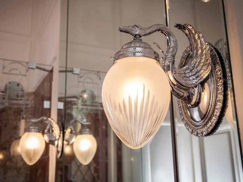 Direct light handmade nickel wall lamp MISKOLC I | Nickel wall lamp by Patinas Lighting