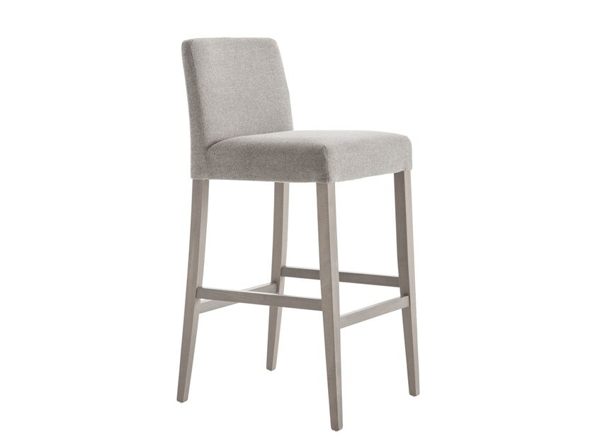 High upholstered stool with back MISS 49SI.i4 by Palma