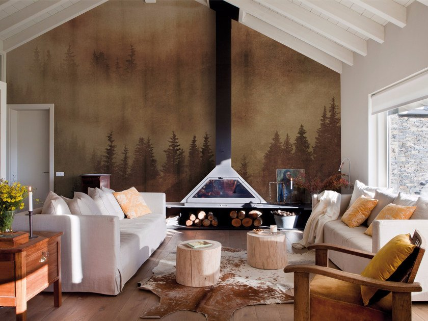 Contemporary style landscape wallpaper MIST by Inkiostro Bianco