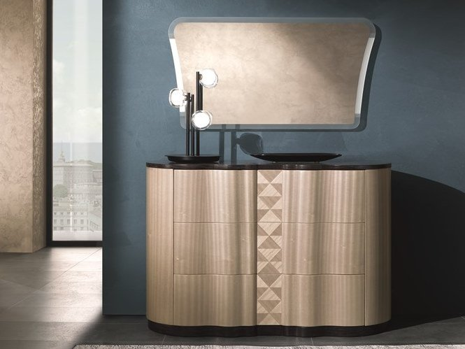 Wooden chest of drawers with integrated handles MISTRAL | Chest of drawers by Carpanelli