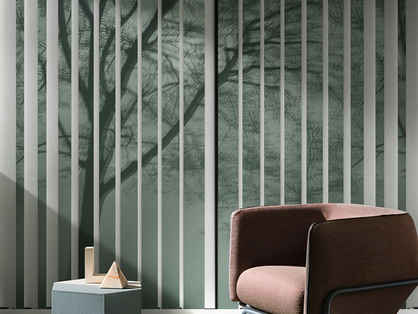 Wallpaper with floral pattern MISTRAL by Wall&decò
