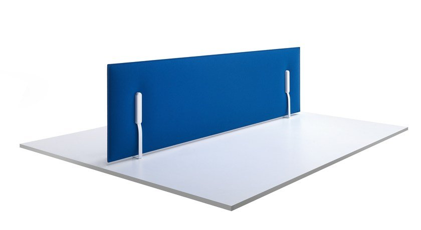 Sound absorbing fabric workstation screen desktop partition MITESCO | Mobile workstation screen by Caimi Brevetti