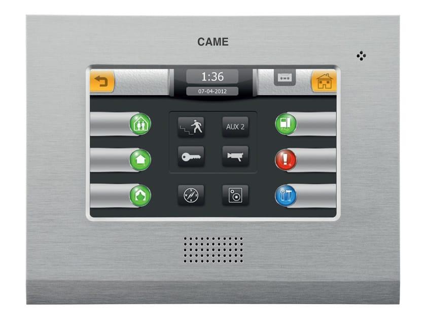 Brushed aluminium touchscreen terminal MITHO XL E by CAME