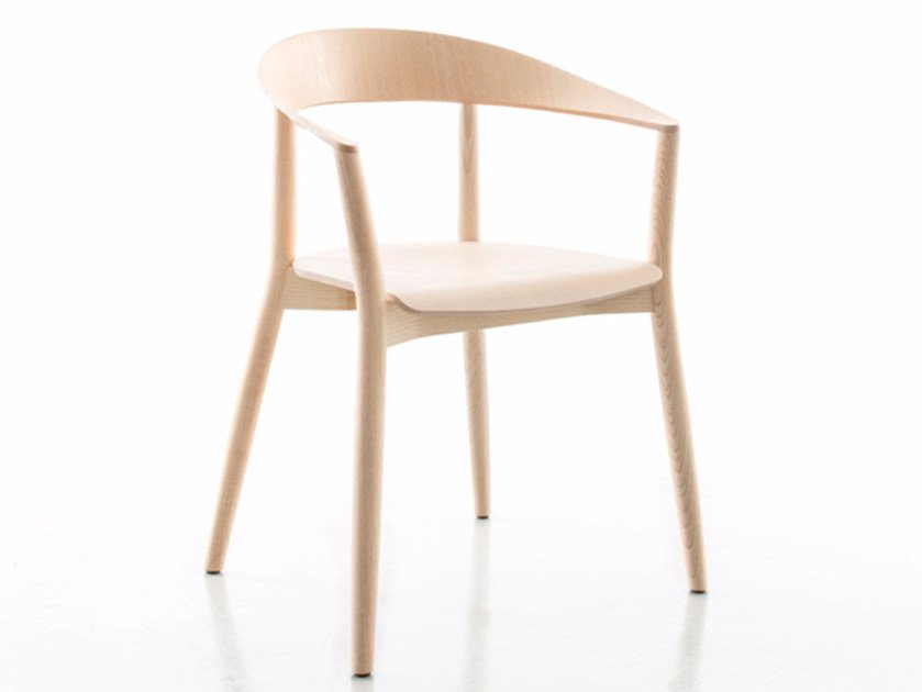 Solid wood chair with armrests MITO | Chair by conmoto