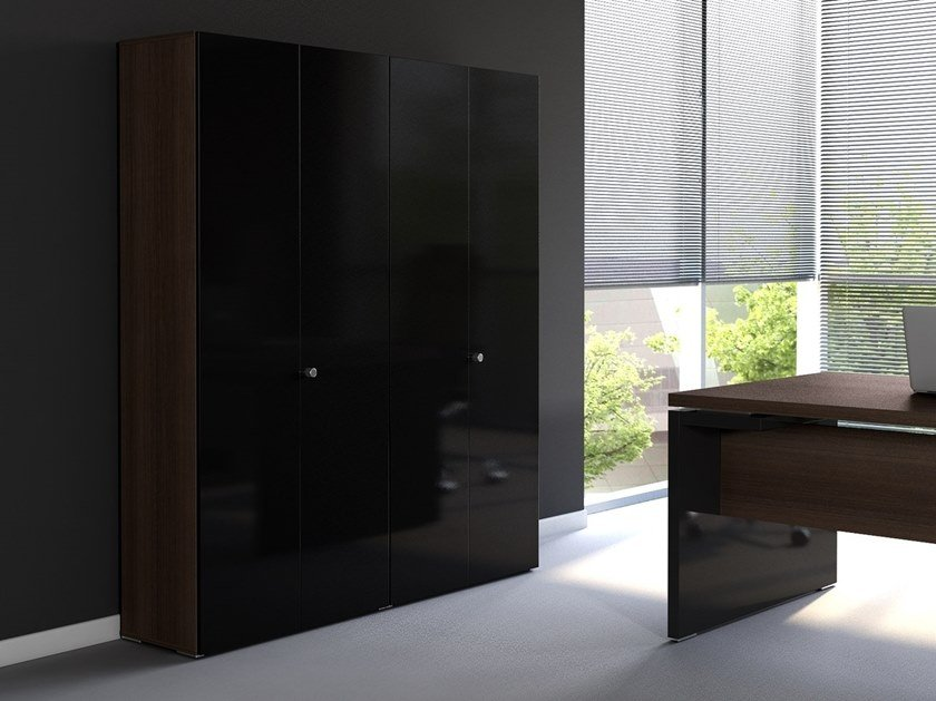 Tall office storage unit with hinged doors MITO | Office storage unit with hinged doors by MDD