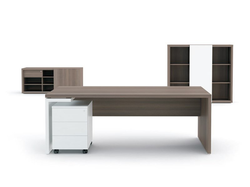 Rectangular executive desk with drawers MITO | Rectangular office desk by MDD