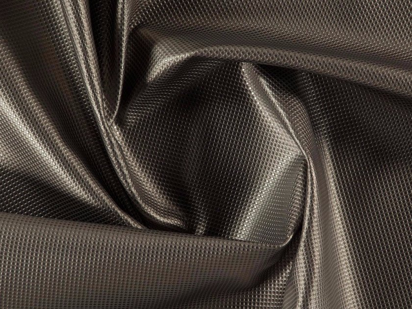Solid-color imitation leather upholstery fabric MITOS by More Fabrics
