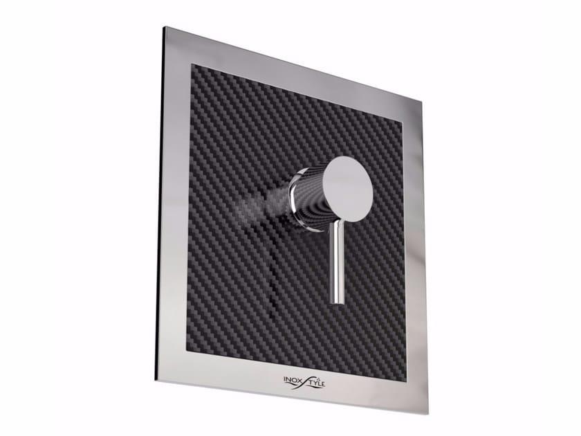 Miscelatore per doccia in acciaio inox da esterno MIX CARBON Q by Inoxstyle
