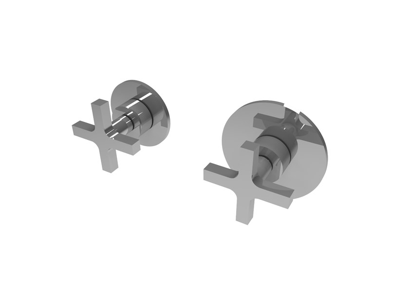 Wall-mounted chromed handle MIX&MATCH MPMI.C.1+1T by Water Evolution