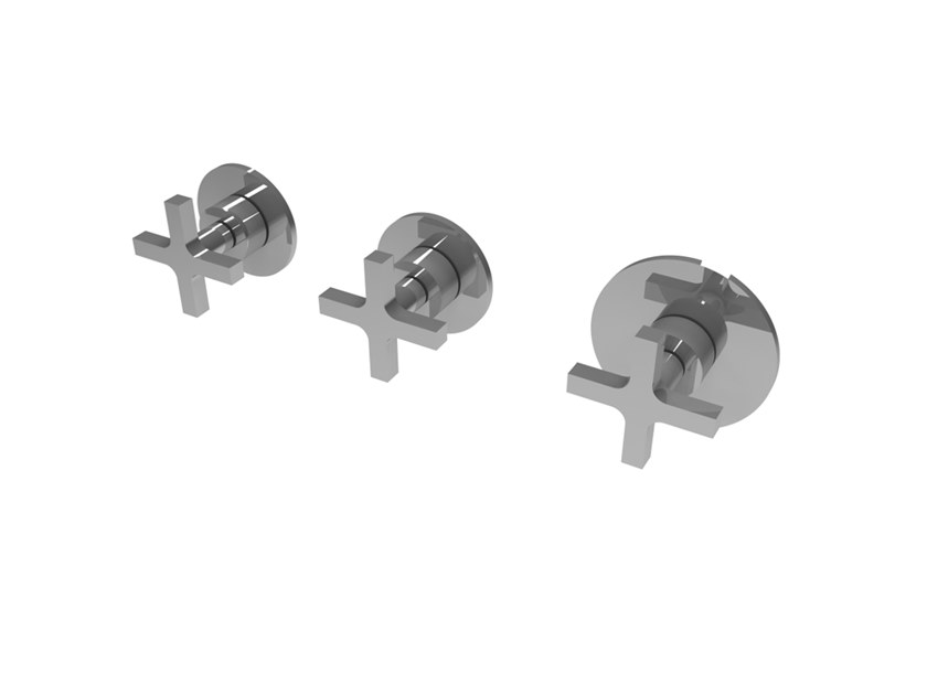 Wall-mounted chromed handle MIX&MATCH MPMI.C.2+1T by Water Evolution