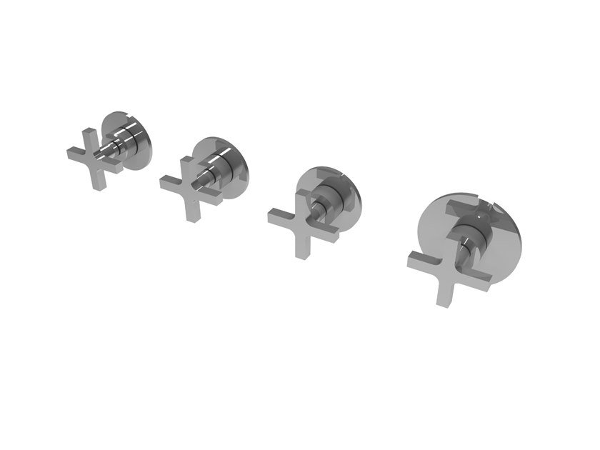 Wall-mounted chromed handle MIX&MATCH MPMI.C.3+1T by Water Evolution