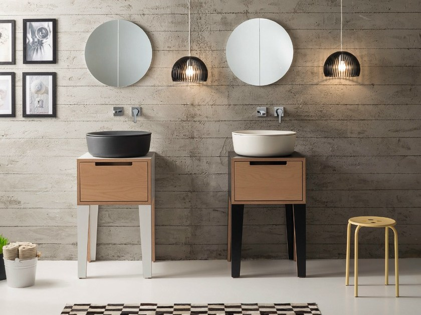 Vanity unit with drawers MIZU | Vanity unit by Scarabeo Ceramiche