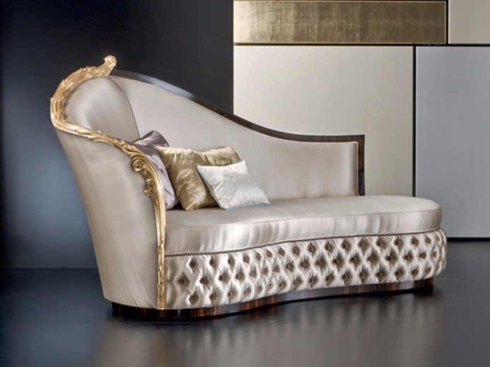 Upholstered fabric day bed MK147 | Day bed by Rozzoni