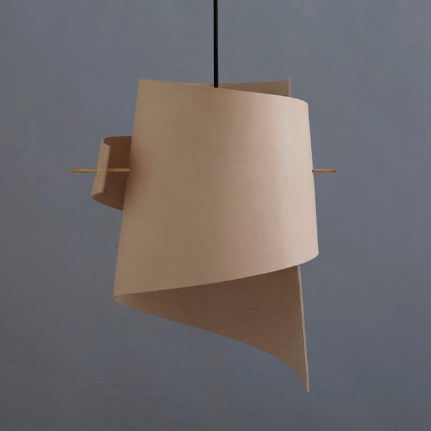 Sospensione Led Lampada Pelle Large Leather A Ml01 Moijn Nature Fatta In Mano SzUMVGqp
