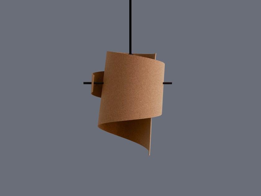 LED handmade cork pendant lamp ML01 MINI CORK by moijn